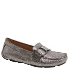Womens Wide Width Leather Comfort Driver Loafers