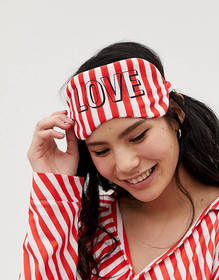 Hey Peachy candy cane stripe eye mask and pouch se