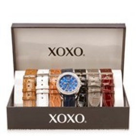 XOXO Womens Blue Dial Crystal Chronograph Watch &