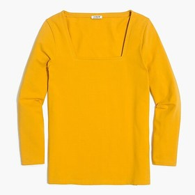 J. Crew Factory Square-neck T-shirt