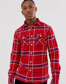 Superdry checked slim fit shirt