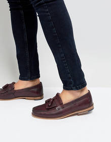 Silver Street Tassel Loafer In Burgundy Leather