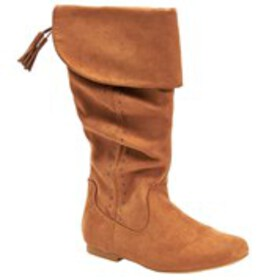 Girls Studded Microsuede Slouch Boots