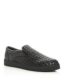 Bottega Veneta - Men's Woven Leather Slip-On Sneak