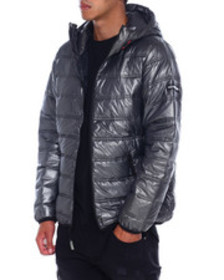 Members Only quilted packable zip jacket