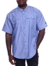 Ecko s/s banded chambray woven shirt (b&t)