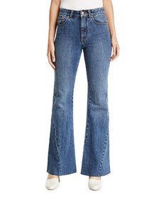Co Bias-Seam Flared Jeans