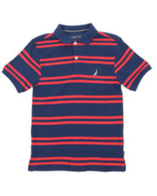Nautica classic fit striped polo (8-20)