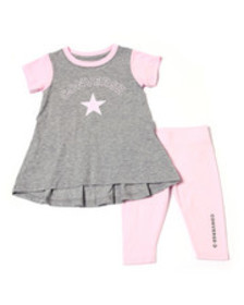 Converse star chevron tunic capri set (4-6x)