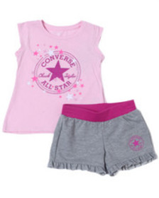 Converse chuck patch short set (4-6x)