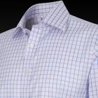 Pink and Blue Classic Jupiter Check Men's Shirt -