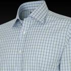 Blue and Green Classic Pluto Check Men's Shirt - B