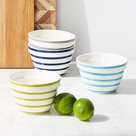 Crate Barrel Avery Striped Mini Mixing Bowls