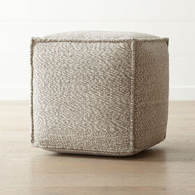 "Crate Barrel Selva 18""x18"" Pouf"