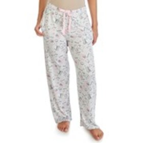 JACLYN Silky Travel-Print Wide Leg Pajama Pants