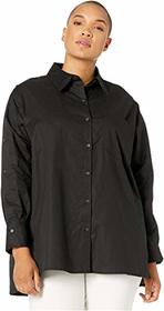 DUBGEE by Whoopi Plus Size Woven Button Down Shirt