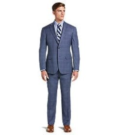 Jos Bank 1905 Collection Tailored Fit Plaid Suit w