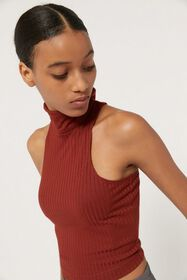 UO Finley Ribbed Turtleneck Tank Top