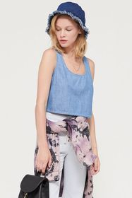 UO Emmy Chambray Shell Tank Top