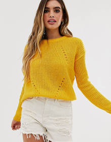 Brave Soul fab sweater in yellow