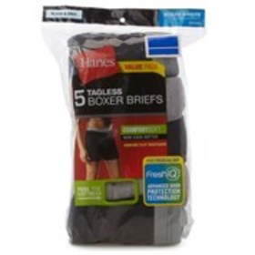 RED LABEL Hanes 5-Pack Moisture Wicking Boxer Brie