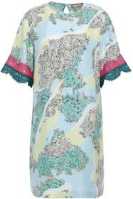 EMILIO PUCCI Lace-trimmed floral-print silk-twill