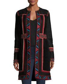 Talitha Collection COAT SHEARLING TRIBAL EMBROI