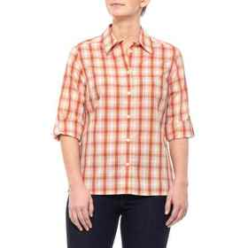 Pendleton Orange/Red Checkered Woven Shirt - 3/4 S