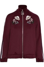 MARKUS LUPFER Maddy embroidered stretch-jersey tra