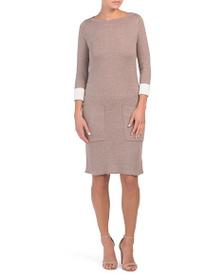 NICOLE MILLER Sweater With Dress Deep Patch Pocket