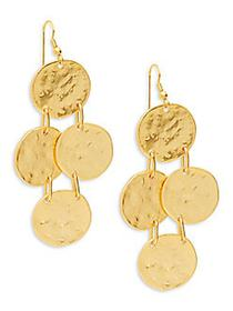 Kenneth Jay Lane Coin Drop Earrings NO COLOR