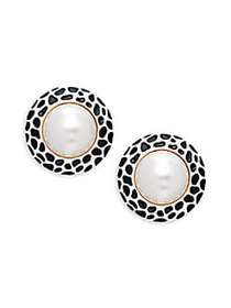 Kenneth Jay Lane Goldtone & Faux Pearl Clip-On Ear