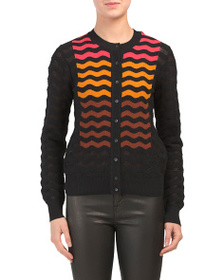 M MISSONI Long Sleeve Full Button Cardigan