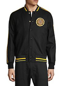 Diesel Raglan-Sleeve Wool-Blend Baseball Jacket BL