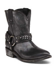 FRYE Leather Studded Western Boots