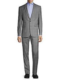 Vince Camuto Slim-Fit Stretch Windowpane Wool Suit