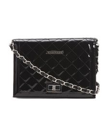 RAMPAGE Quilted Patent Crossbody