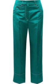EMILIO PUCCI Cropped satin straight-leg pants