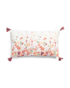 NICOLE MILLER 14x24 Textured Fall Floral Pillow