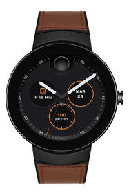 Movado Men's Connect Silicone & Leather Strap Smar
