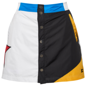 Starter Snap Front Mini Skirt