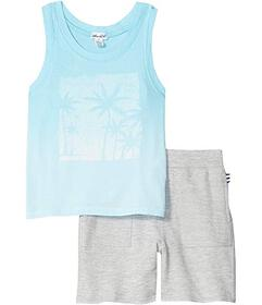 Splendid Littles Dip-Dye Palm Tree Tank Set (Toddl