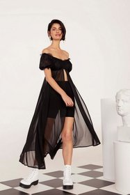 Nasty Gal Womens Black Lace Night You Said Off-the