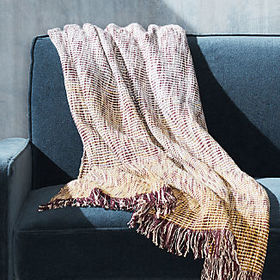 Crate Barrel Lucerne Ombre Throw