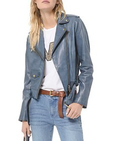 MICHAEL Michael Kors - Rustic Leather Moto Jacket