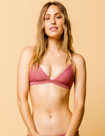 FULL TILT Fixed Triangle Mauve Bikini Top_