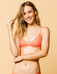 FULL TILT Fixed Triangle Coral Bikini Top_