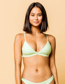 FULL TILT Fixed Triangle Lime Bikini Top_