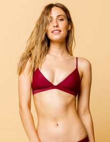 FULL TILT Fixed Triangle Berry Bikini Top_
