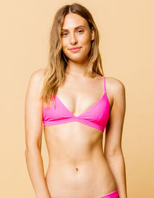 FULL TILT Fixed Triangle Neon Hot Pink Bikini Top_